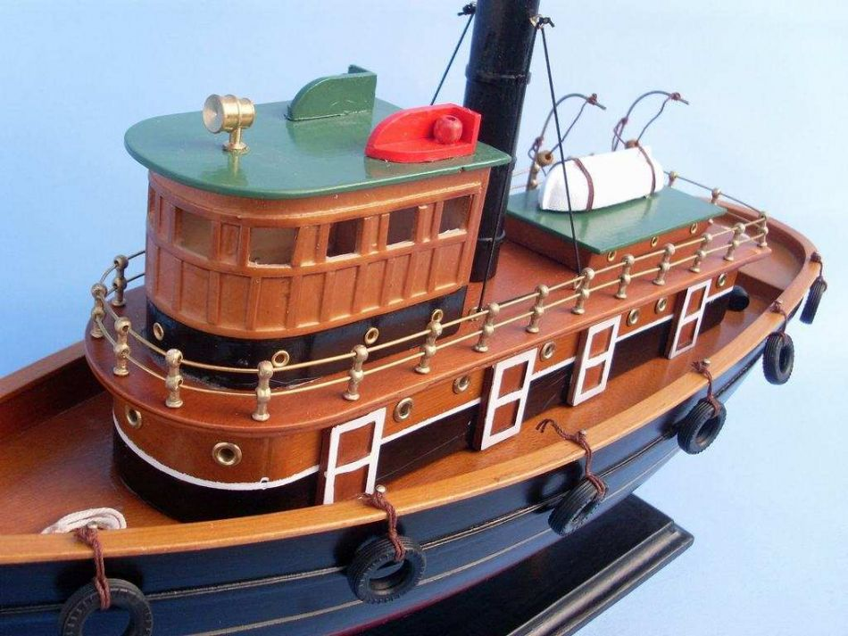 buy wooden river rat tugboat model - model ship