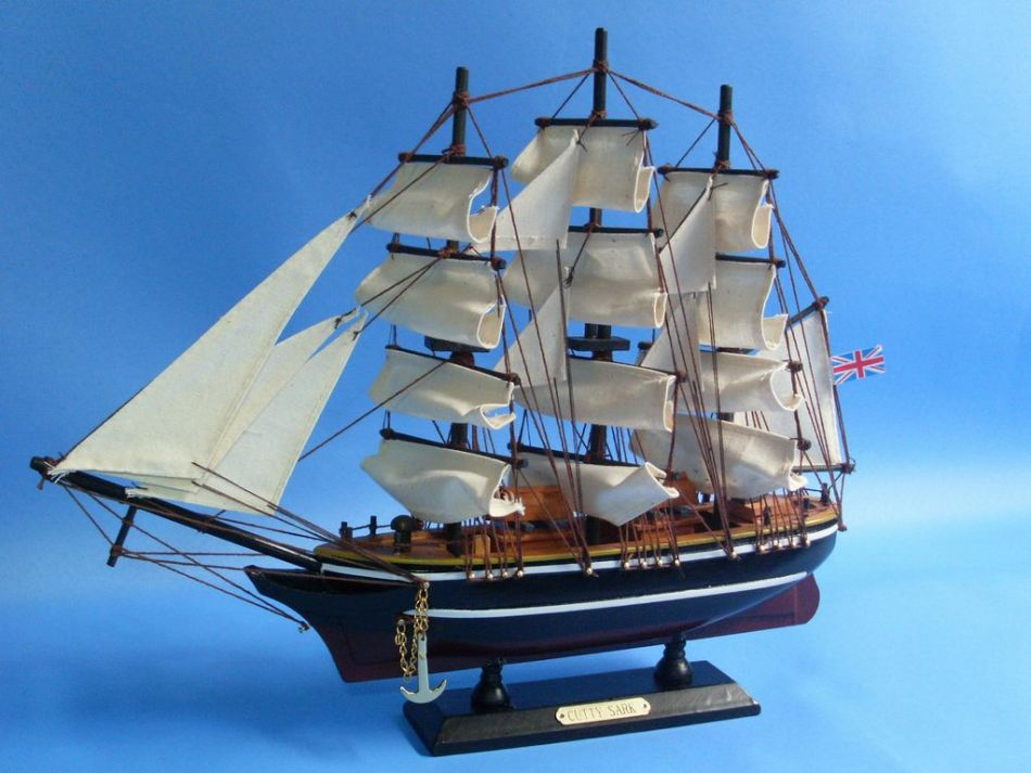 Buy Wooden Cutty Sark Tall Model Clipper Ship 14 Inch ...