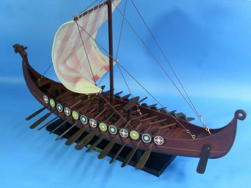 Buy Wooden Viking Drakkar Model Boat 24in Model Ships