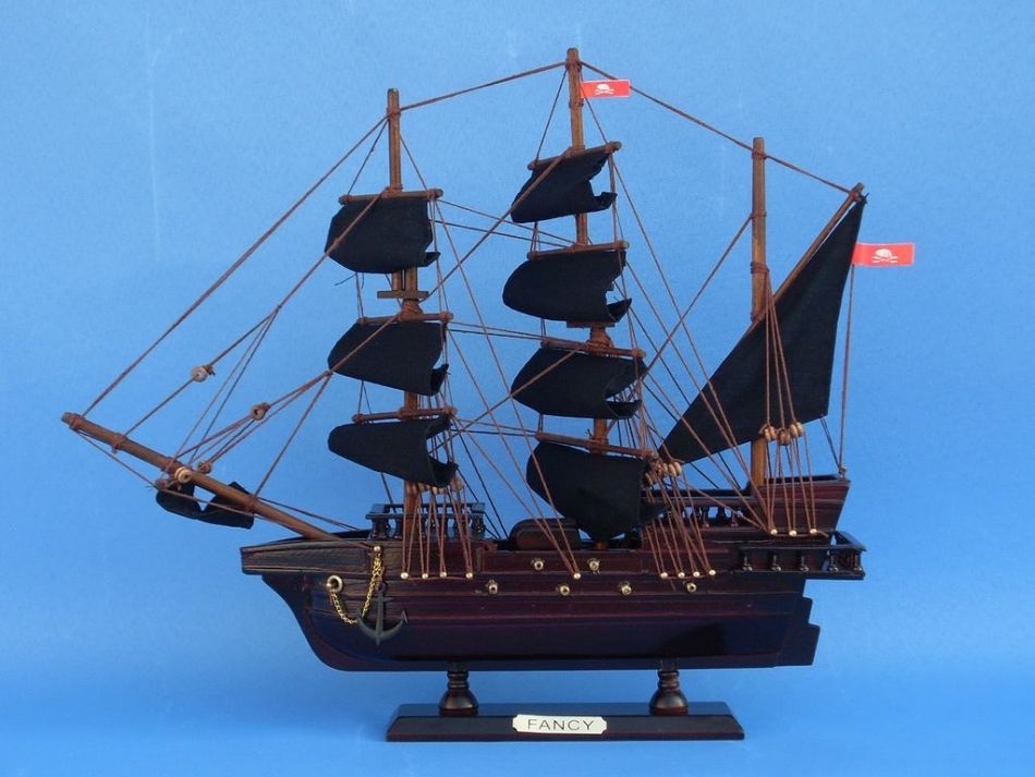 Wooden Henry Averys The Fancy Model Pirate Ship 14 From Handcrafted Model Ships