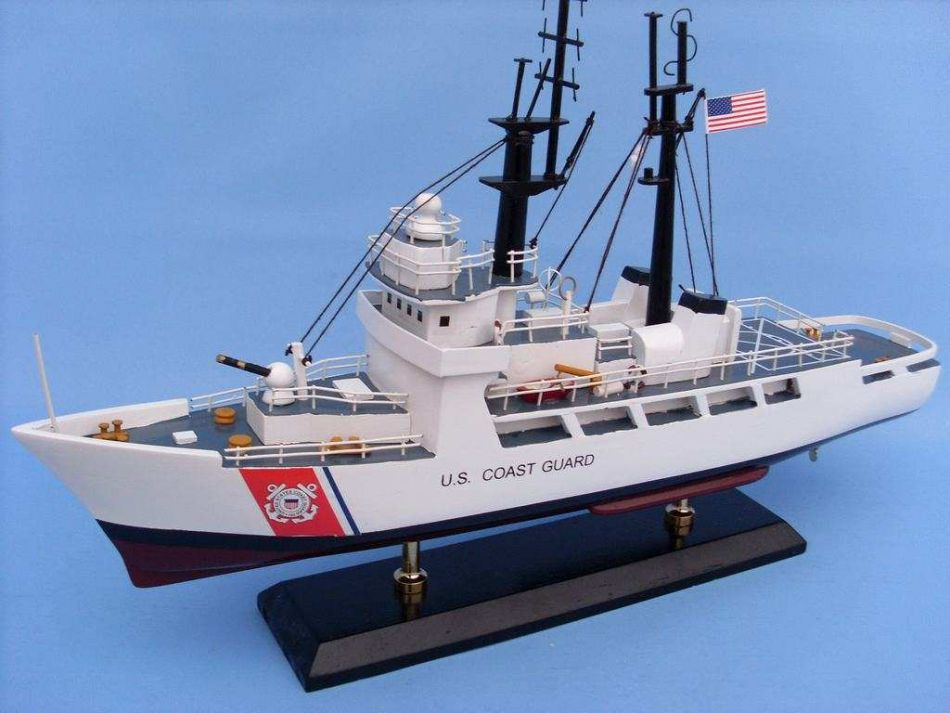 Picture of a model of a USCG High Endurance Cutter