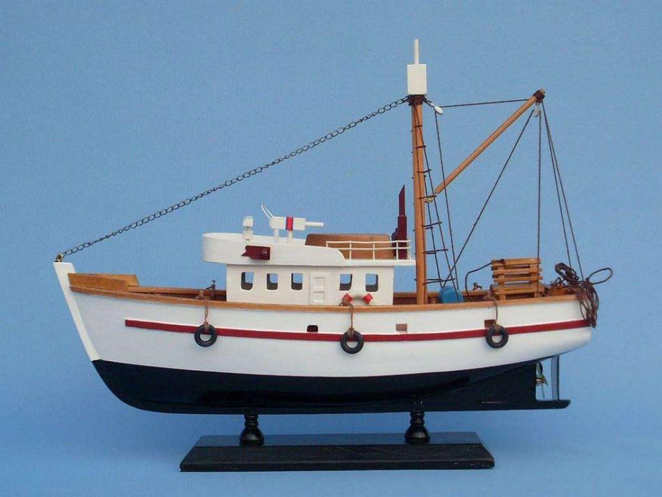 Wooden fish stalker model fishing boat 14 for Model fishing boats