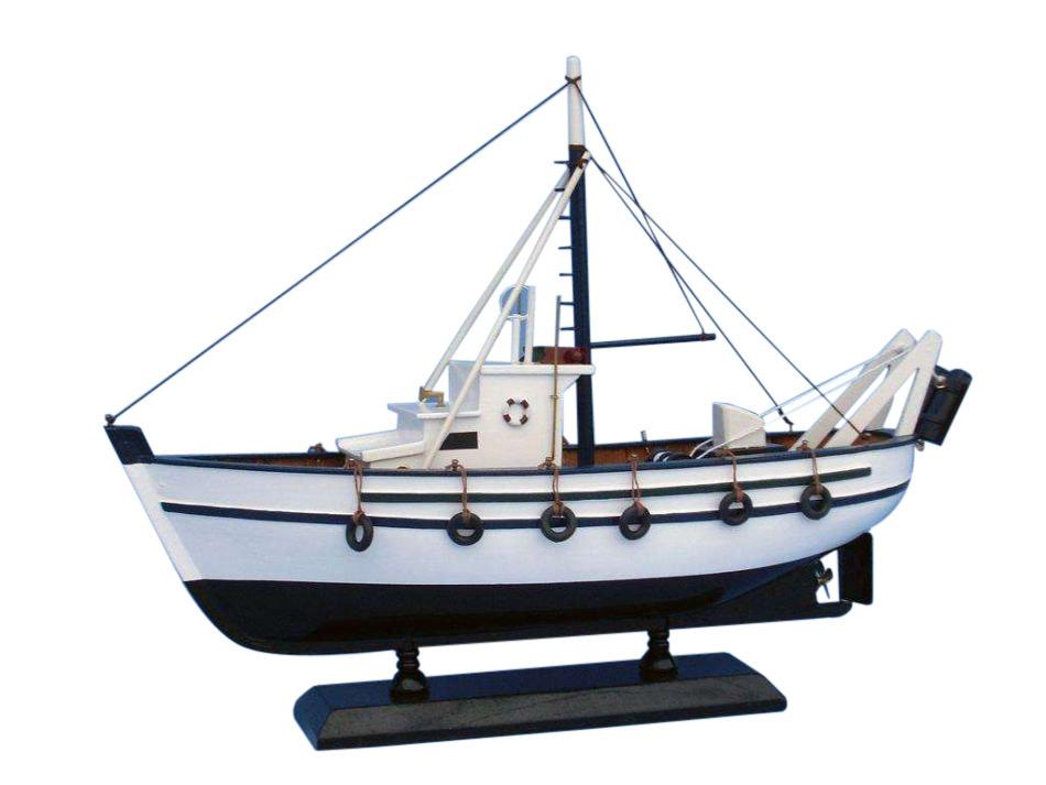 Buy wooden seaworthy model fishing boat 14 inch for Model fishing boats