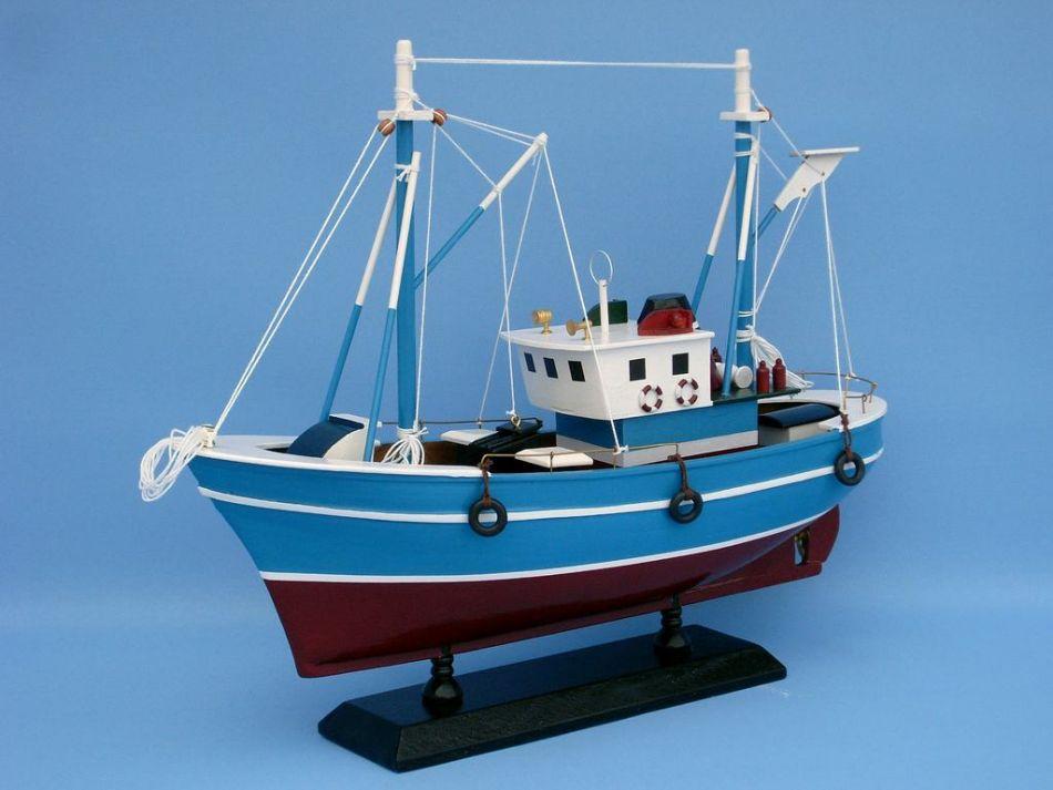 Buy wooden fish finder model boat 14 inch boat model for Model fishing boats