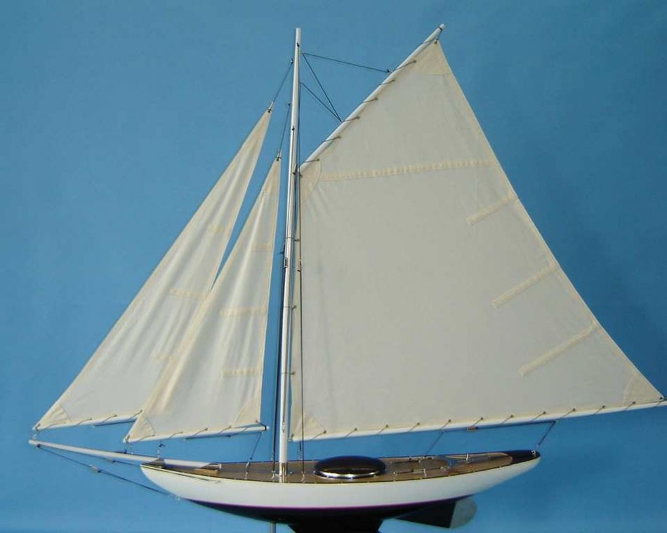 Lobster Boats For Sale >> Buy Wooden Modern Decor Sloop Decoration 40in - Model Ships