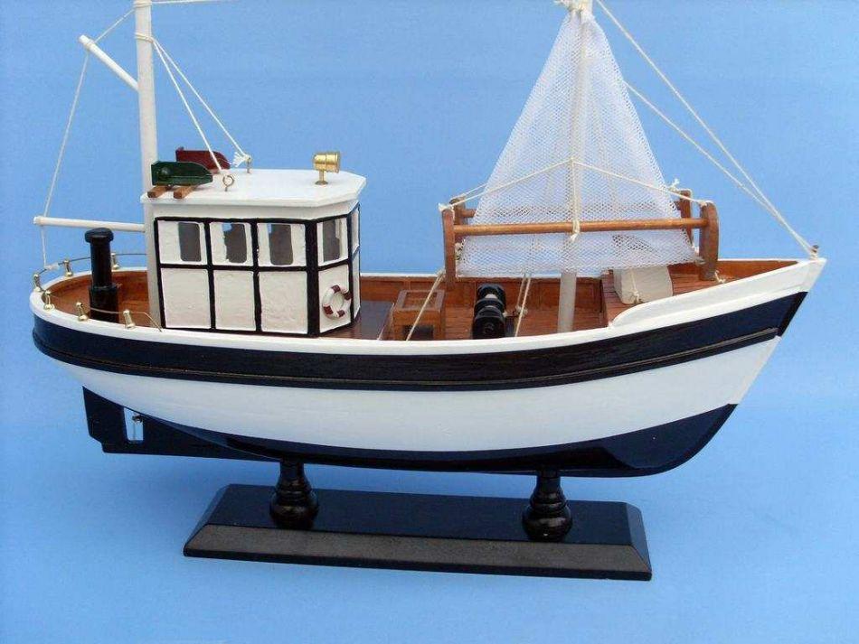 Buy wooden mr shrimp model fishing boat 16 inch model for Model fishing boats