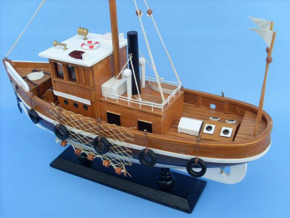 Buy wooden knot working model fishing boat 16 inch model for How much does a fishing boat cost