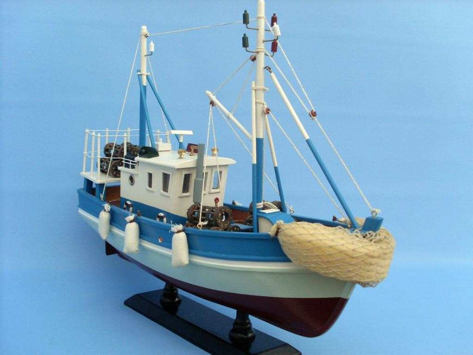 Buy wooden outrigger model fishing boat 18 inch ship for Model fishing boats