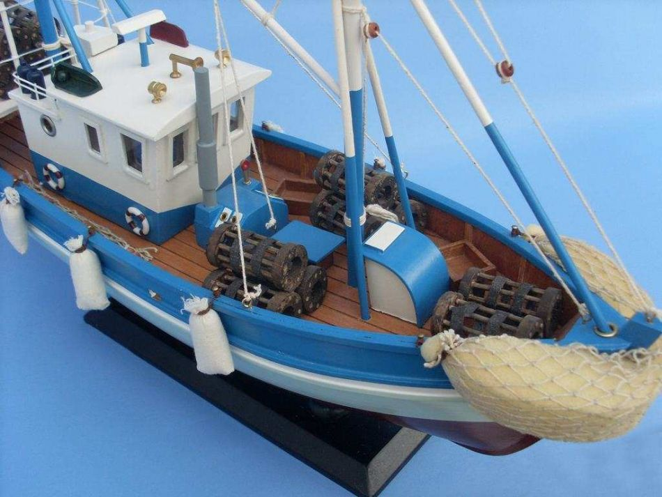 Buy Wooden Outrigger Model Fishing Boat 18in Model Ships