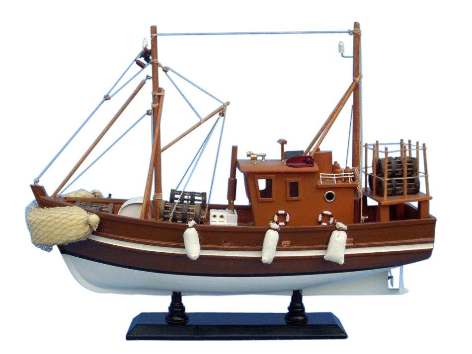 Wooden liquid asset model fishing boat 18 for Model fishing boats