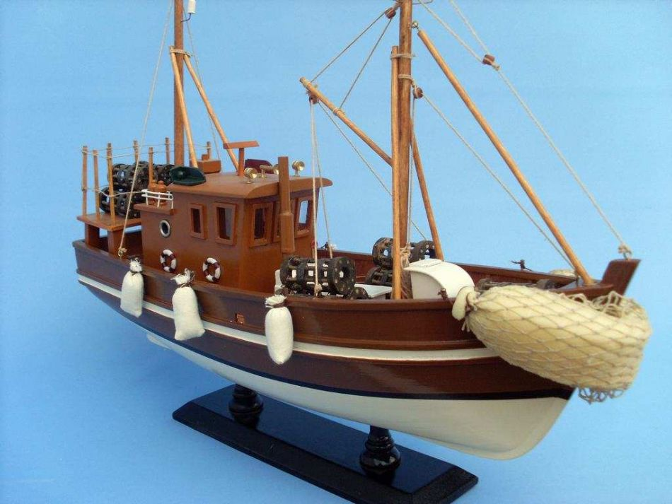 Buy wooden liquid asset model fishing boat 18 inch for Model fishing boats