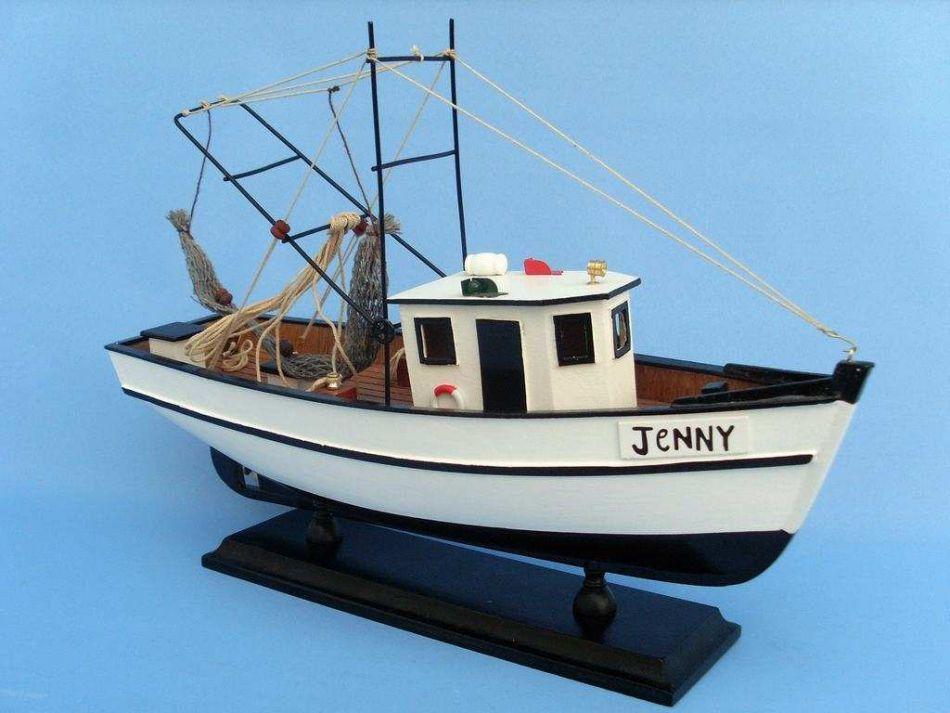 Buy wooden forrest gump jenny model shrimp boat 16 inch for Model fishing boats
