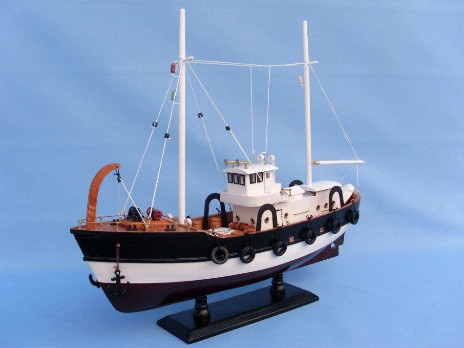 Buy wooden seas the day model fishing boat 20 inch for Model fishing boats