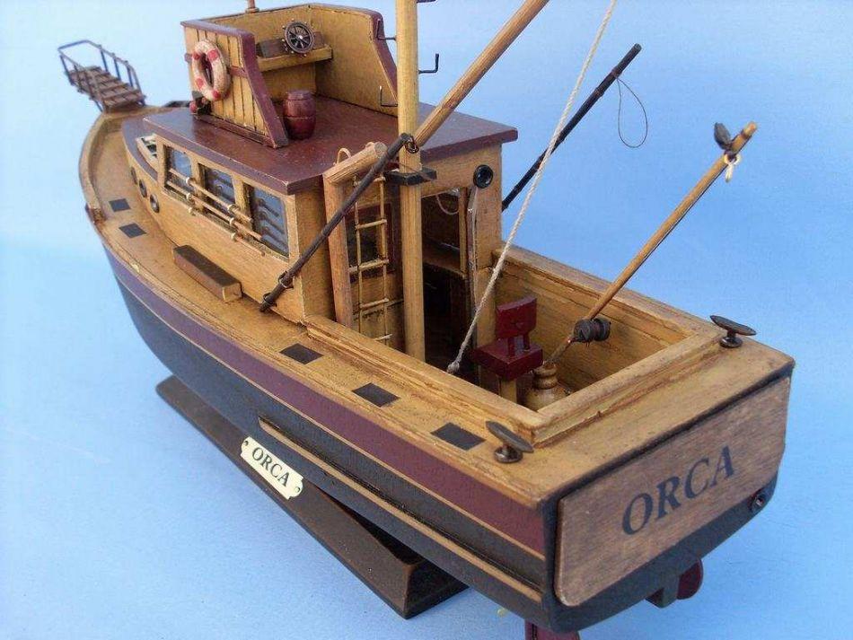 Buy Wooden Jaws - Orca Model Boat 20in - Model Ships