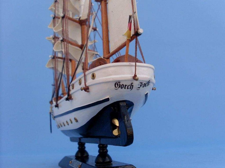 buy wooden gorch fock tall model ship 14 inch model ship decor tall. Black Bedroom Furniture Sets. Home Design Ideas