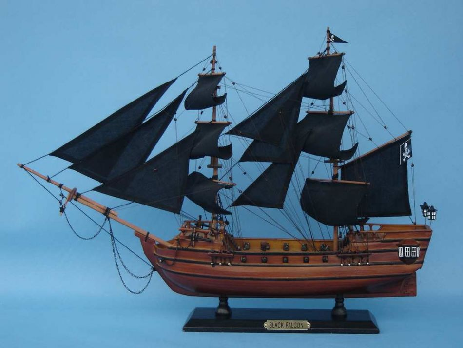 Buy Captain Kidd S Black Falcon 20 Inch Ship Model
