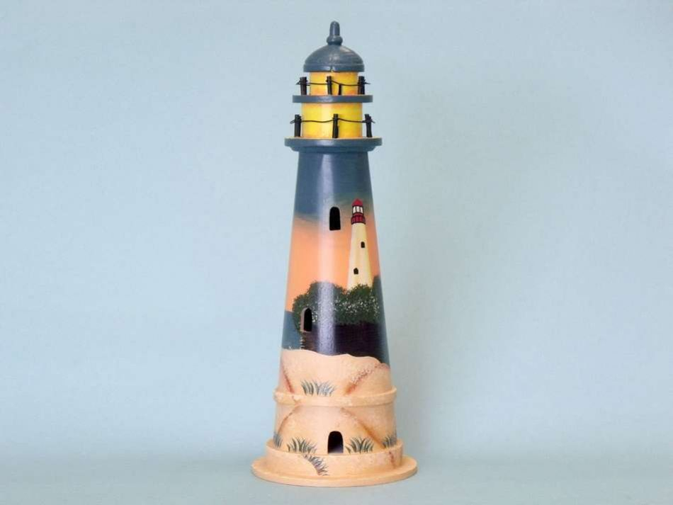 wholesale sunset wooden lighthouse 16 inch wholesale