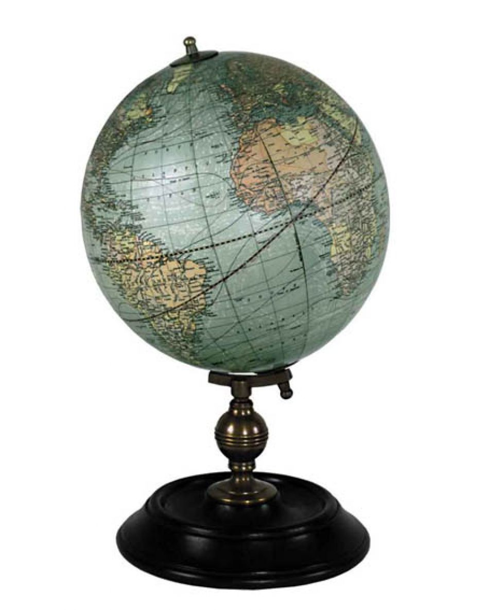 picture of a 1921 Nautical Globe