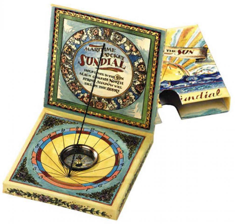Vintage Nautical Decor Sale: Buy Maritime Pocket Sundial For Kids