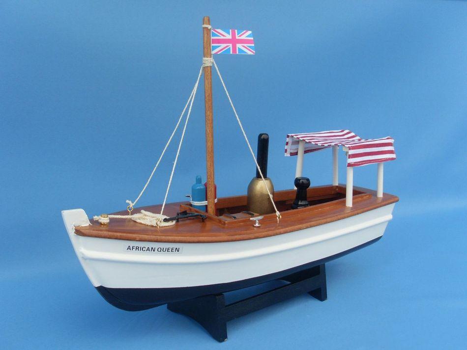 Buy Wooden African Queen Model Boat 14in Model Ships