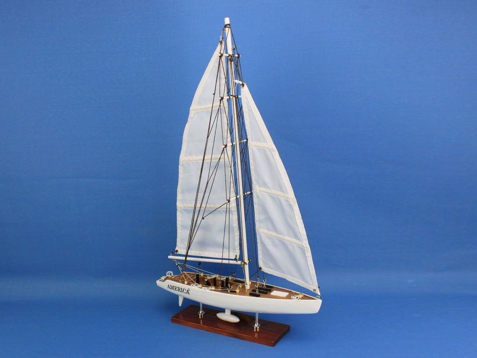 America3 23 model sailboat decorations models boat scale for Decoration yacht