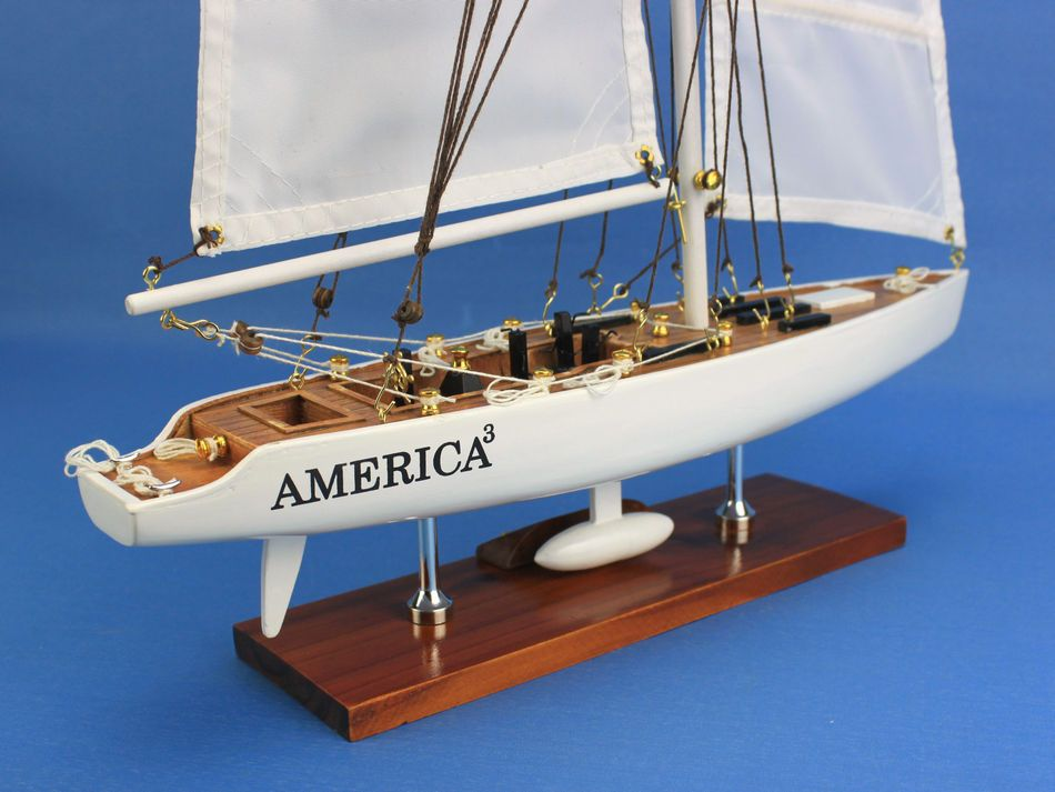 Buy Wooden America 3 Model Sailboat Decoration 23in
