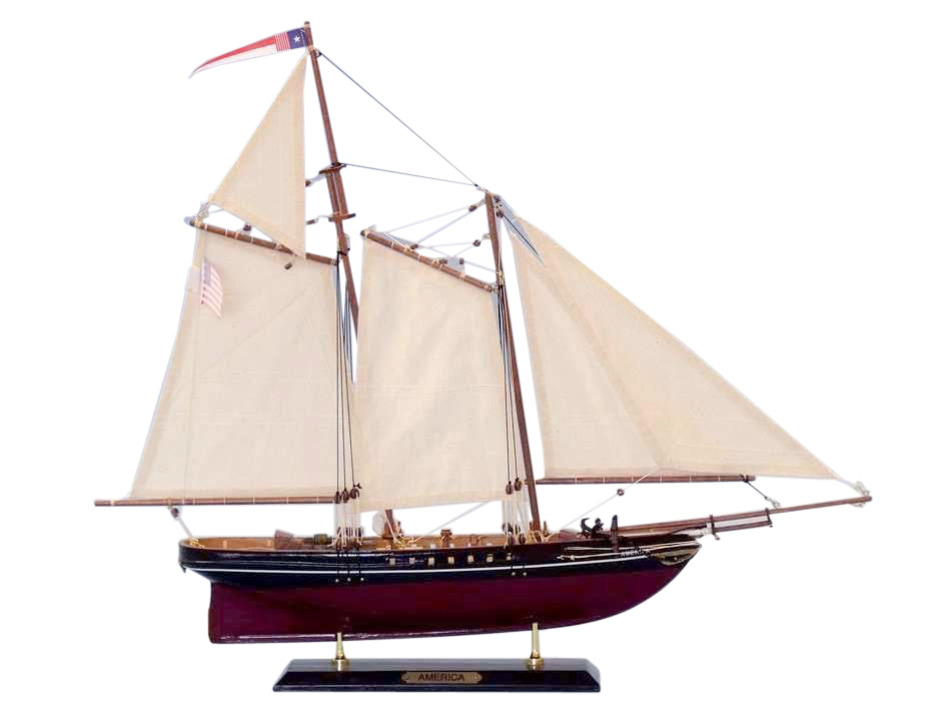 ... Wooden America Limited Model Sailboat 24 Inch - Ship Models - Model