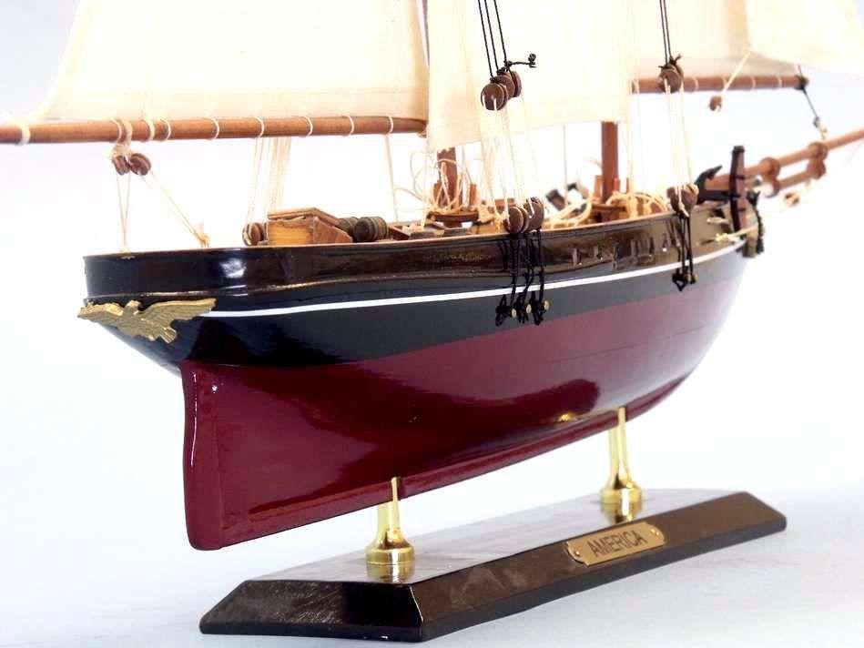 Buy Wooden America Limited Model Sailboat 24 Inch - Ship Models - Model
