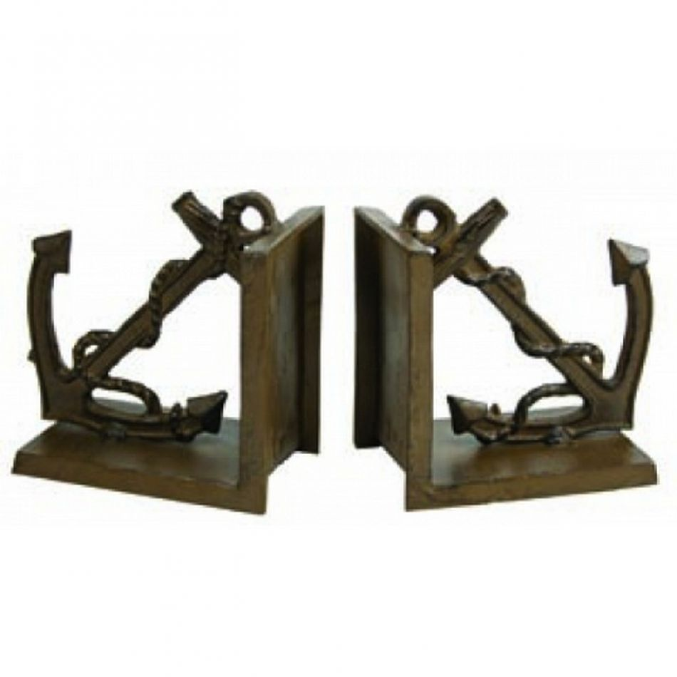 Buy antique brass anchor bookends 5 inch wholesale for Anchor decoration