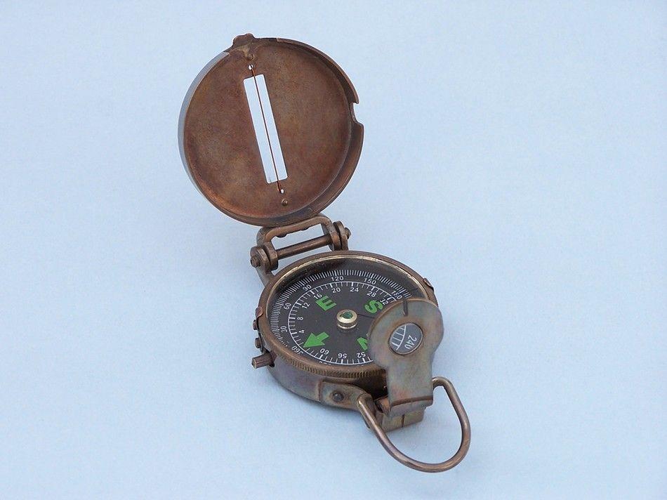 Antique Brass Military Compass 4