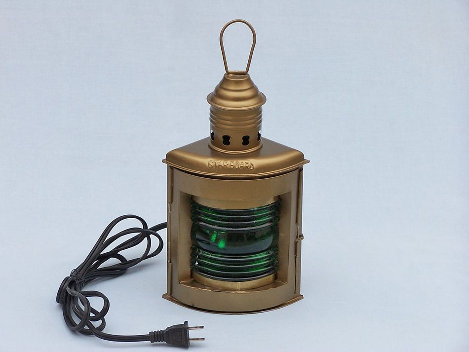 Buy Antique Brass Port And Starboard Electric Lantern 12in