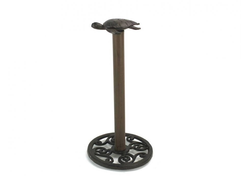 Cast Iron Sea Turtle Extra Toilet Paper Stand 13
