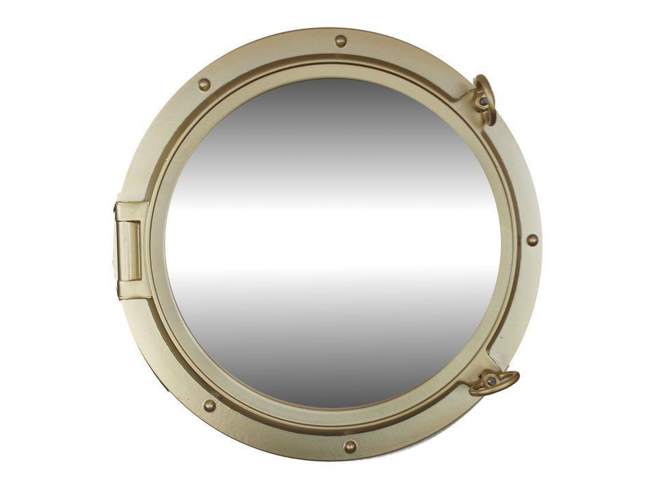 Wholesale Gold Finish Porthole Mirror 24in Hampton Nautical