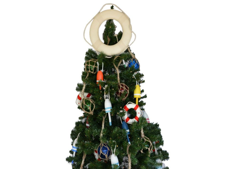 Buy White Lifering Christmas Tree Topper Decoration