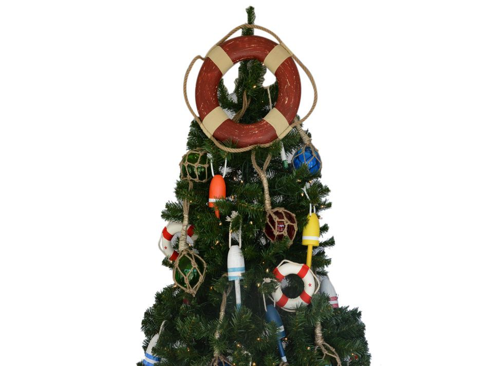 Wholesale Vintage Red Lifering Christmas Tree Topper
