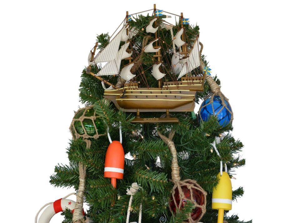 Buy Wooden Wasa Model Ship Christmas Tree Topper