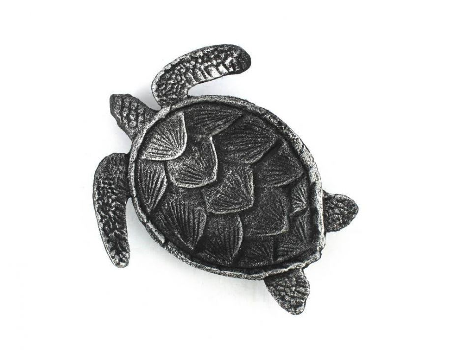 Wholesale Antique Silver Cast Iron Sea Turtle Decorative