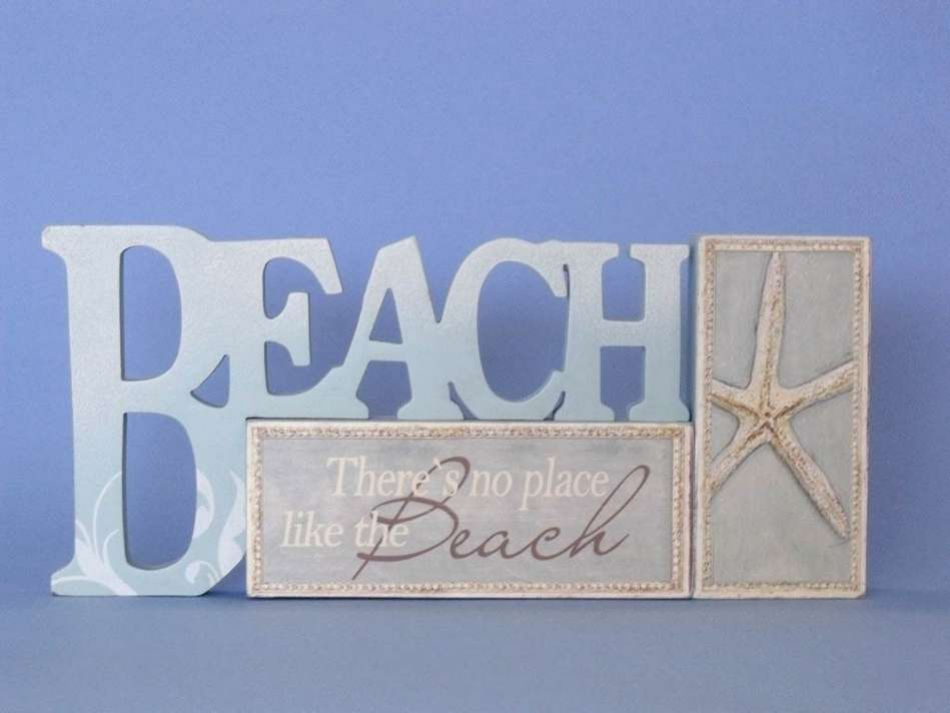 Buy wooden table top letters beach sign 12 inch for I sign decoration