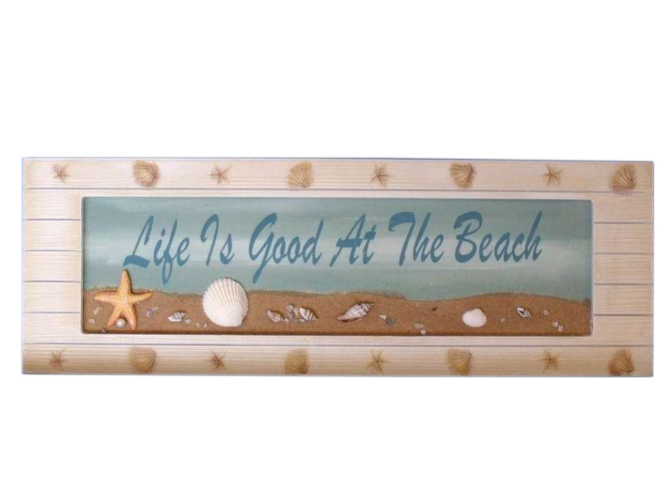 buy wooden life is good sign 21 inch wholesale beach