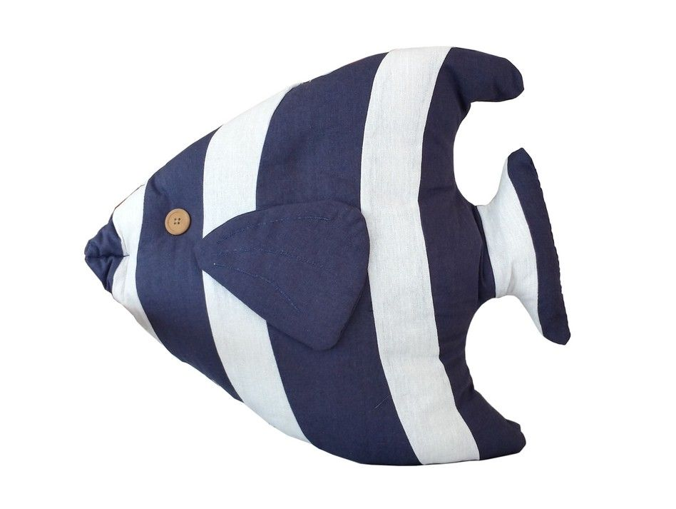 Buy Blue Tropical Fish Pillow 18 Inch Wholesale Sealife