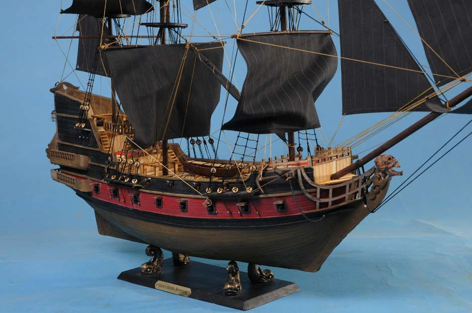 Picture of a model of the Queen Anne's Revenge