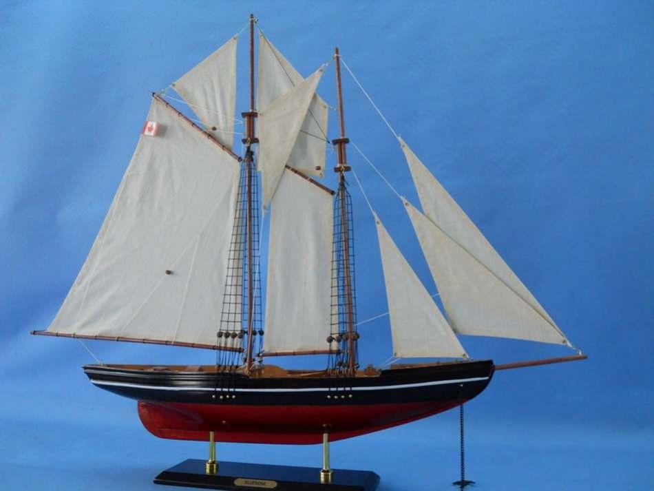 Buy Wooden Bluenose Model Sailboat Decoration 35in - Model Ships