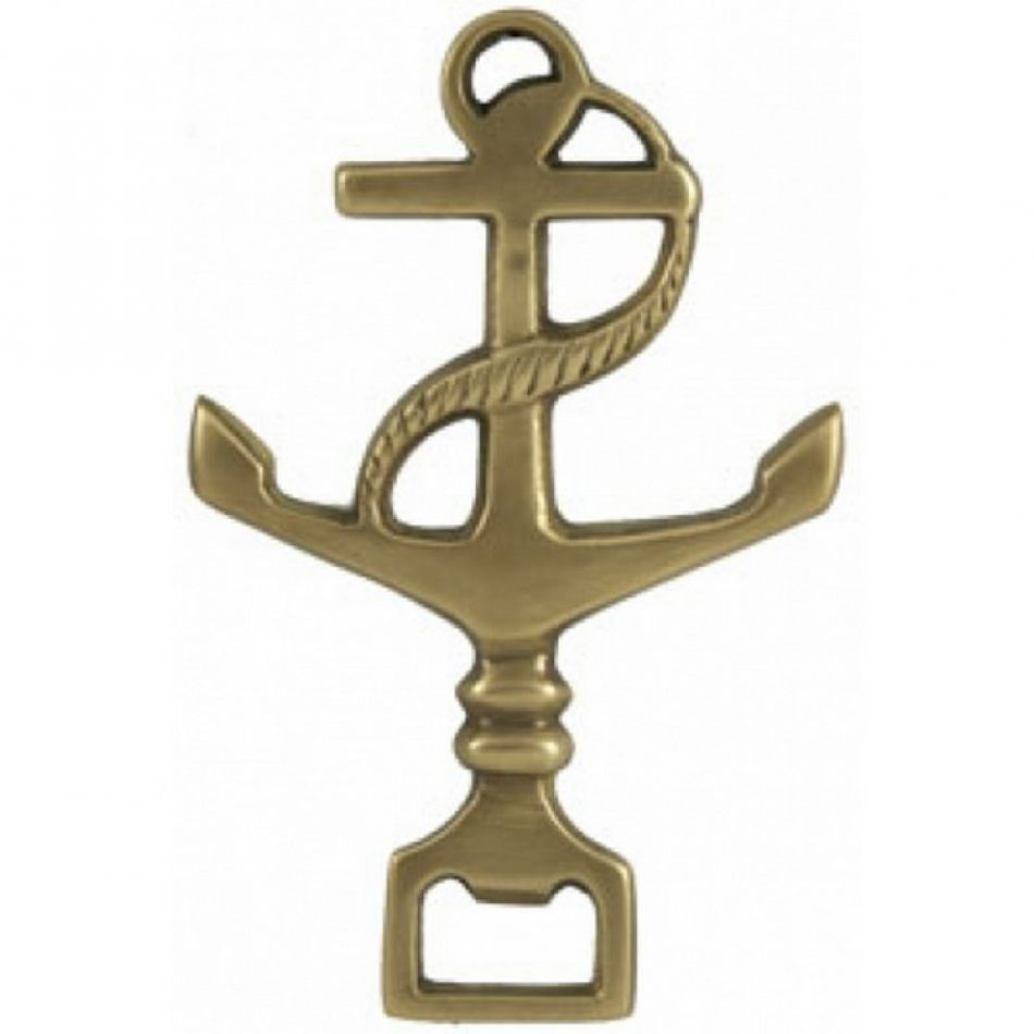 buy solid brass anchor bottle opener 6 inch nautical accessories. Black Bedroom Furniture Sets. Home Design Ideas