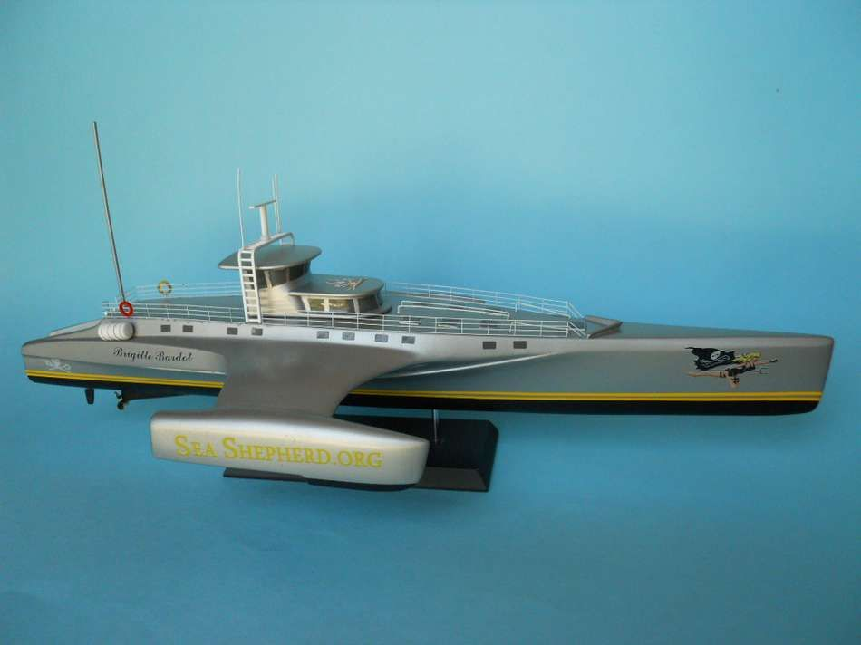 Model of the Brigitte Bardot of Sea Shepherd