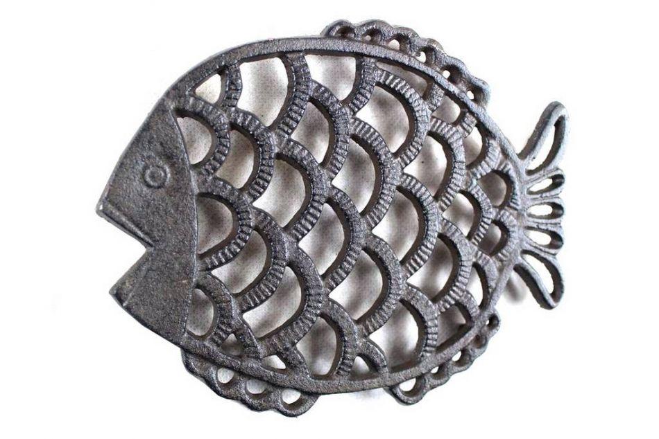 Buy cast iron big fish trivet 8 inch wholesale sea life decor - Wholesale home decor merchandise model ...