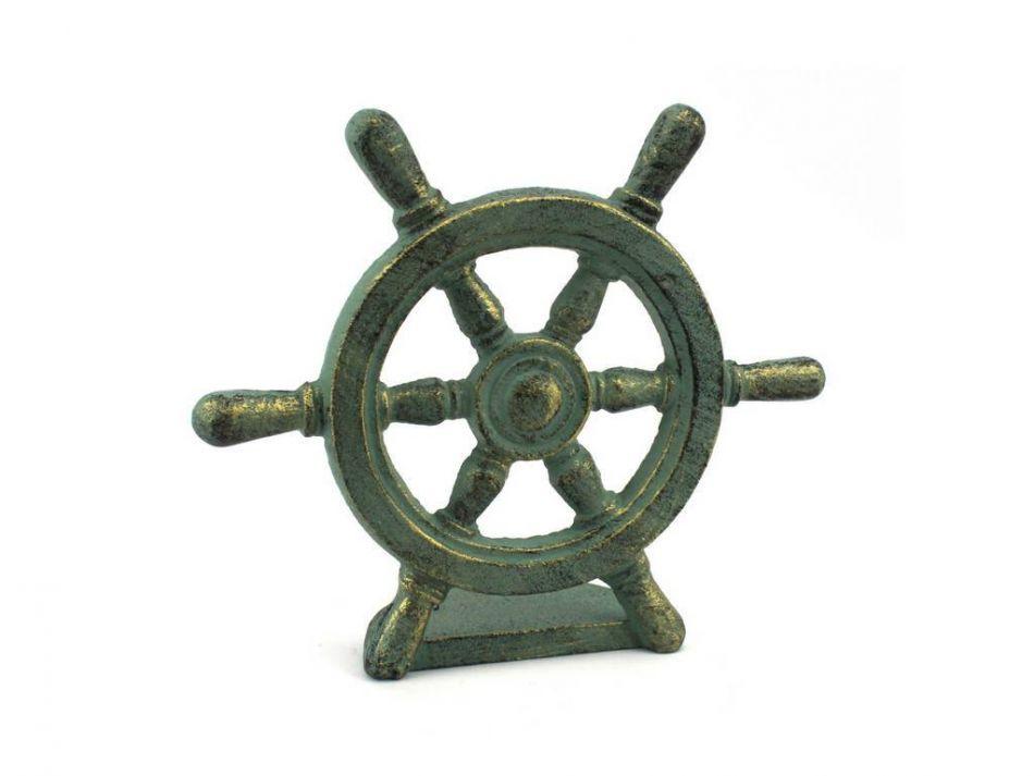 Wholesale Antique Bronze Cast Iron Ship Wheel Door Stopper