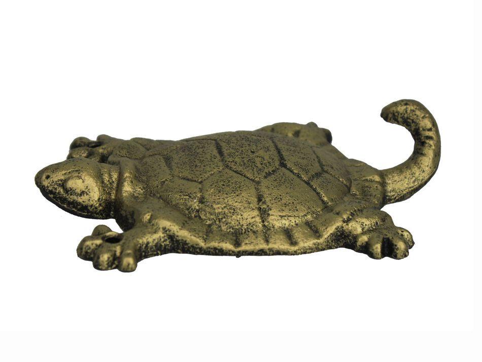 rustic gold cast iron turtle hook 6 quot nautical home decor sea turtles decor home decore inspiration