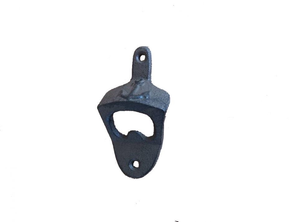 Cast iron wall mounted anchor bottle opener 3 - Cast iron wall mount bottle opener ...