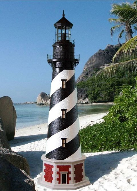 Buy Cape Hatteras Stucco Electric Lawn Lighthouse 96