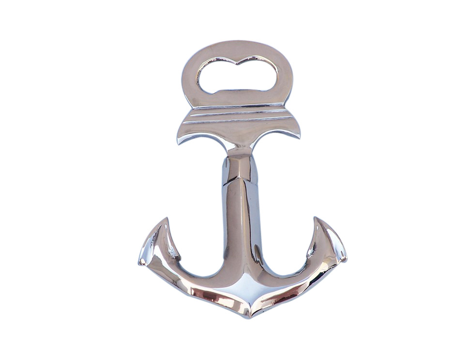 buy chrome anchor cork screw bottle opener 6 inch nautical. Black Bedroom Furniture Sets. Home Design Ideas